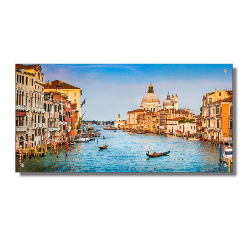 Quadro de Parede em Acrílico Cidade de Veneza, Grande Canal, Quadro Decorativo Para Salas e Quartos