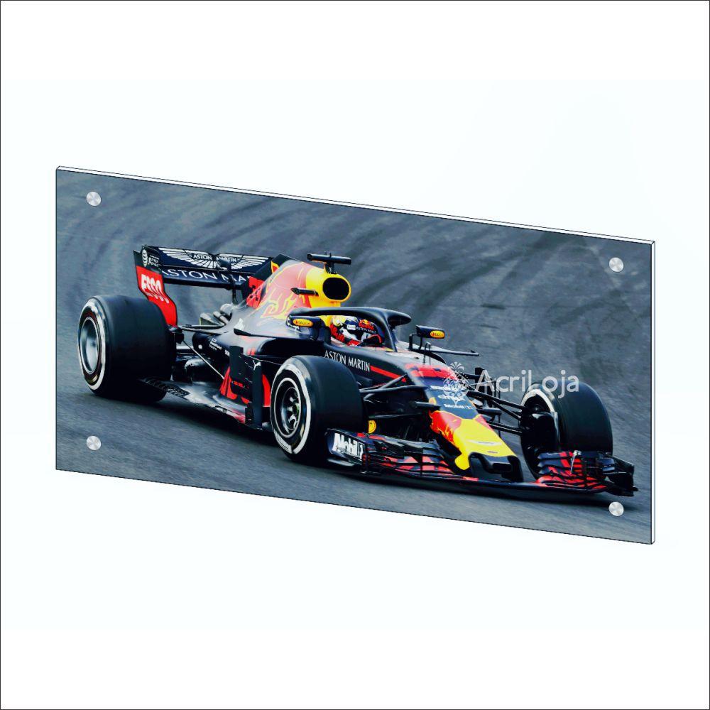 Quadro de Parede em Acrílico Tamanho 120x60cm Formula 1, Quadro Decorativo Para Salas e Quartos
