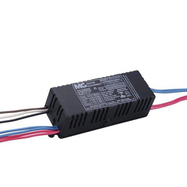 Reator eletrônico para 2 lâmpadas de 40W bivolt – Alto Fator – Tubulares