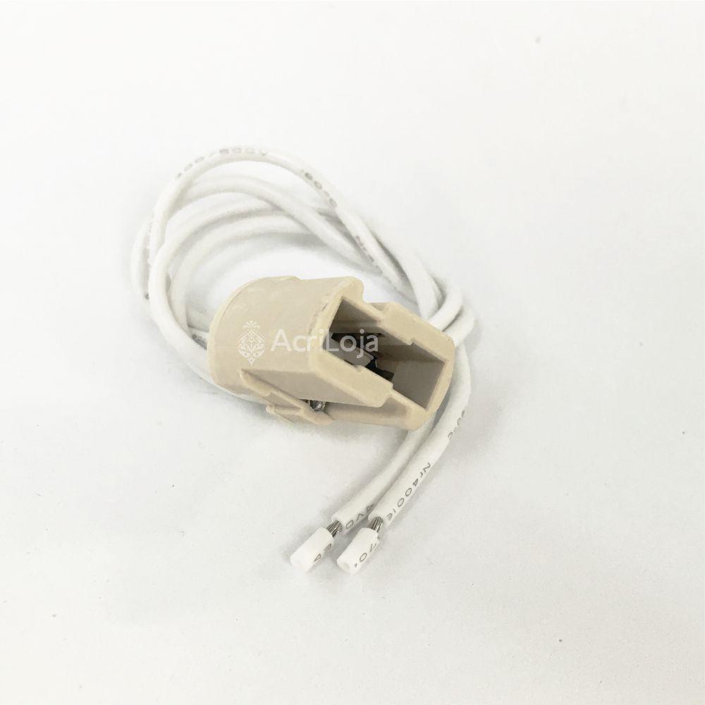 Soquete G9 Halopin A6025 Com Fiação, Kit 100 unidades de Bocal G9 para luminárias