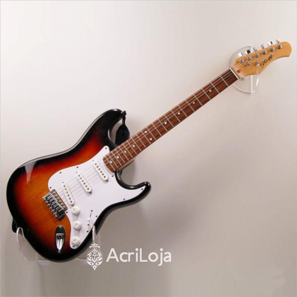 Suporte Guitarra de Parede de Acrílico Para Loja, Casa e Estúdio
