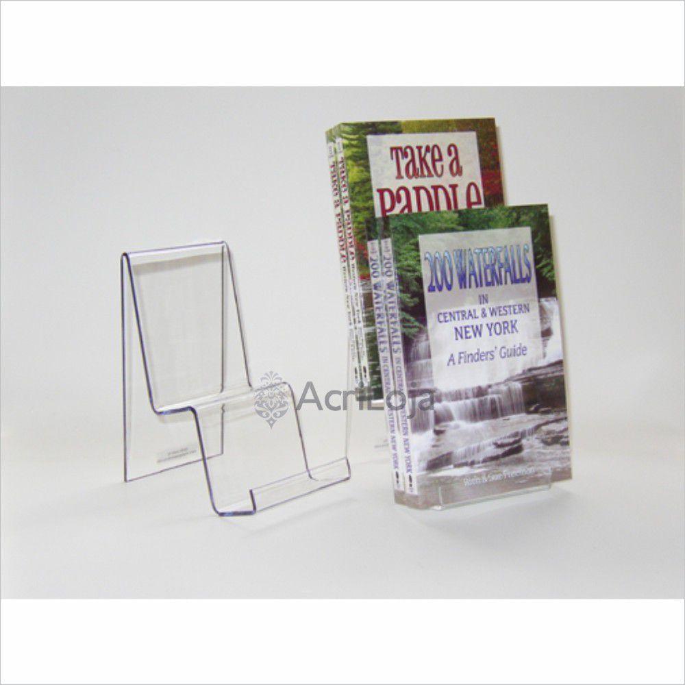 Suporte para livro em acrílico, Display de mesa para livros, modelo 04