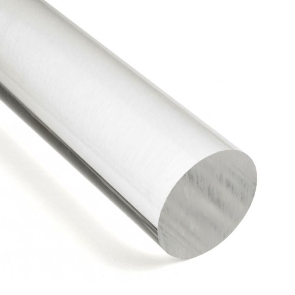 Tarugo de Acrilico Cristal Transparente - Diâmetro 45mm - Comprimento 2 metros