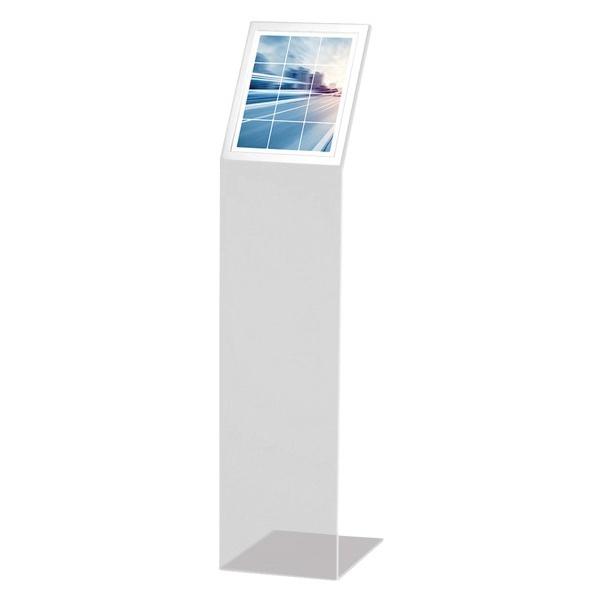 Totem de Acrilico Transparente Personalizado 1.10m Com Display A4 - Para Lojas, Igrejas e Empresas