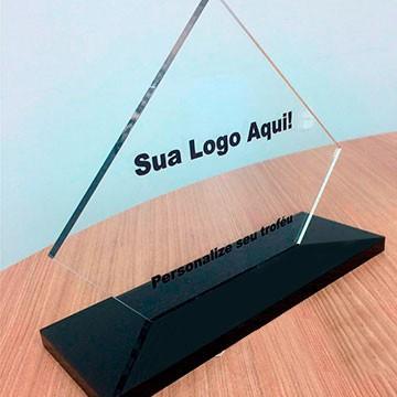 Troféu de Acrilico Personalizado com Gravação Para Premiações em Eventos, Modelo 2