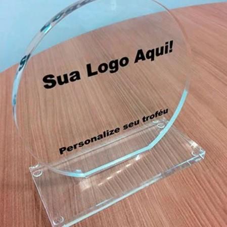 Troféu de Acrilico Personalizado com Gravação Para Premiações em Eventos, Modelo 3