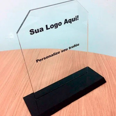 Troféu de Acrilico Personalizado com Gravação Para Premiações em Eventos, Modelo 4