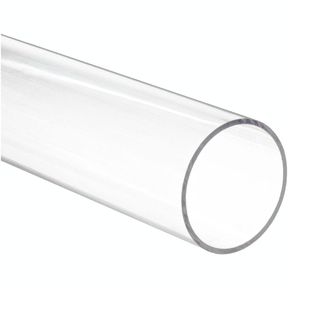 Tubo de Acrílico Transparente Cristal | Medidas: Comprimento 2 metros - Diâmetro 25mm - Espessura da Parede 2mm
