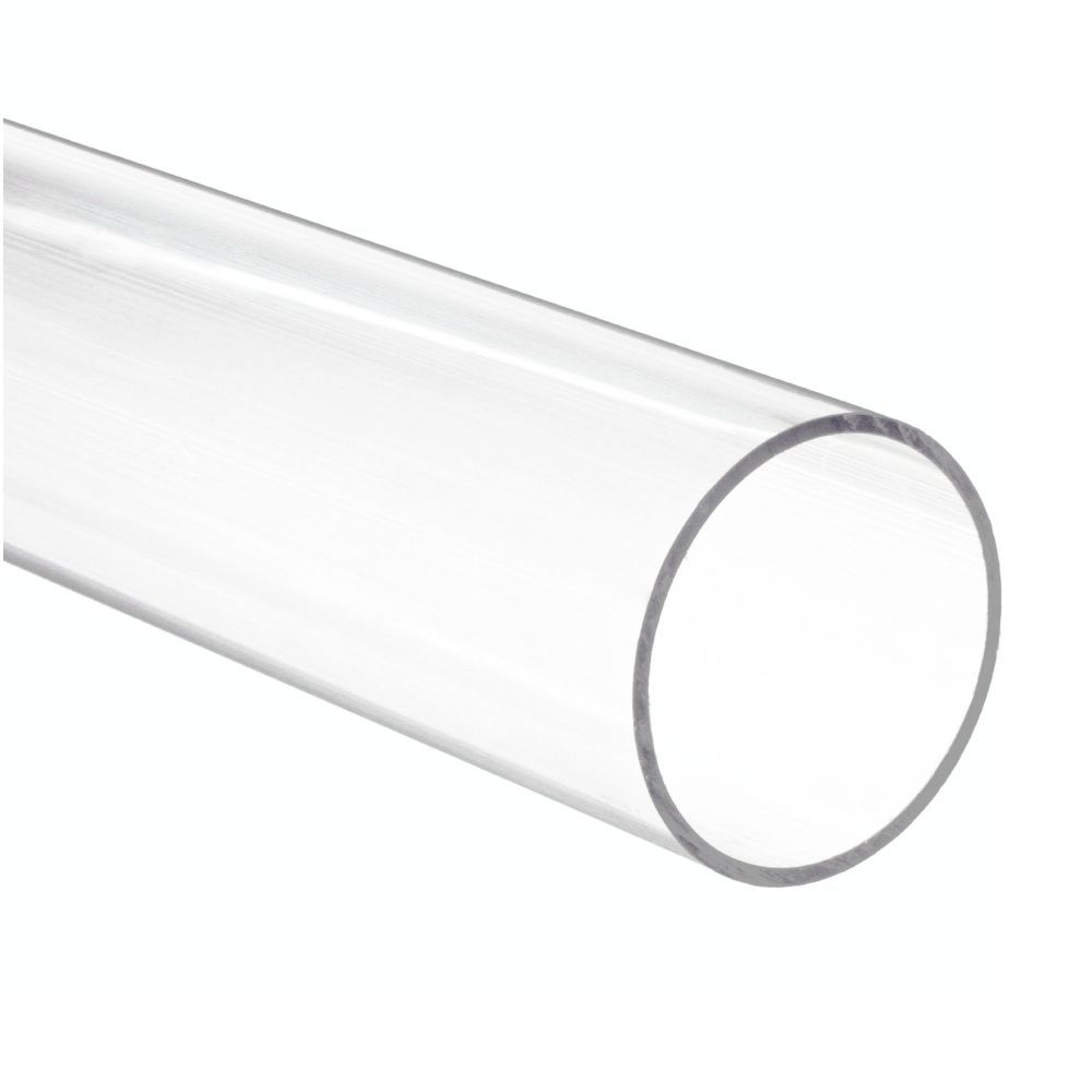 Tubo de Acrílico Transparente Cristal | Medidas: Comprimento 2 metros - Diâmetro 80mm - Espessura da Parede 3mm