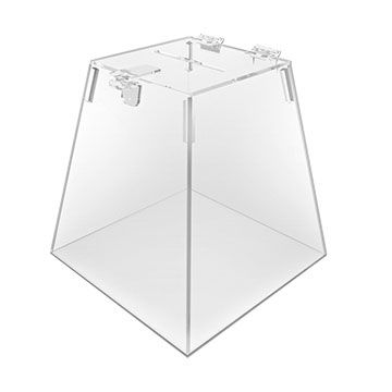 Urna de Acrilico Transparente Piramide Tamanho 30x30