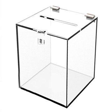 Urna de Acrilico Transparente Retangular Tamanho 25x30