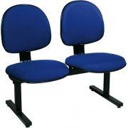 AF 8006-L-SB - Cadeira fixa em longarina, sem braços, encosto médio (preço POR LUGAR)