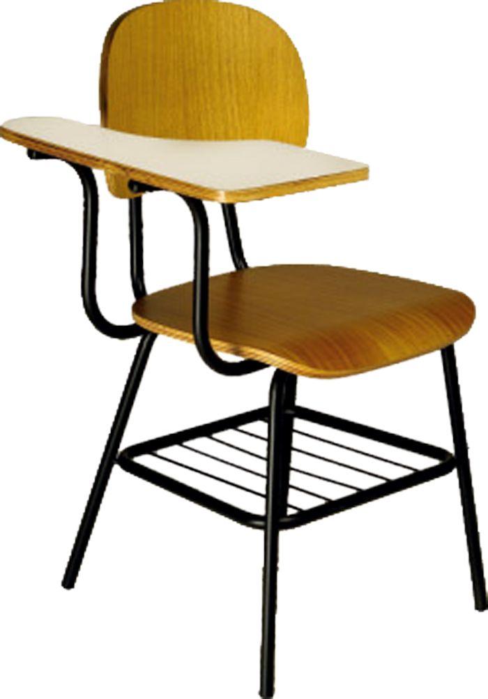 AF 1000 - Cadeira Universitária em madeira com prancheta, palito, encosto baixo