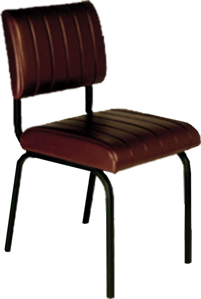 AF 124 - Cadeira Fixa Secretária sem Braços, Encosto Baixo