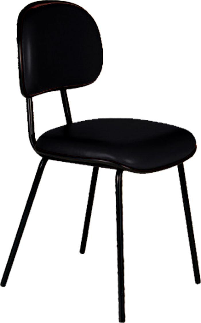 AF 125 - Cadeira fixa, pés palito, secretária, sem braços, encosto baixo