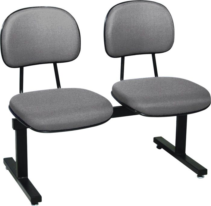 AF 125-L - Cadeira fixa em longarina, sem braços, encosto baixo (preço POR LUGAR)