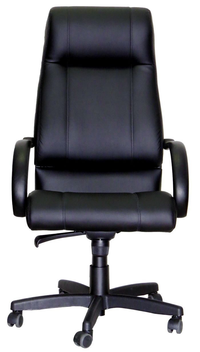 AF 18001-A - Poltrona Giratória Presidente em Concha Única com Braços, Encosto Alto com encosto de cabeça