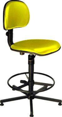AF 1899-C - Cadeira alta para Caixa / balcão, giratória, sem braços, encosto baixo
