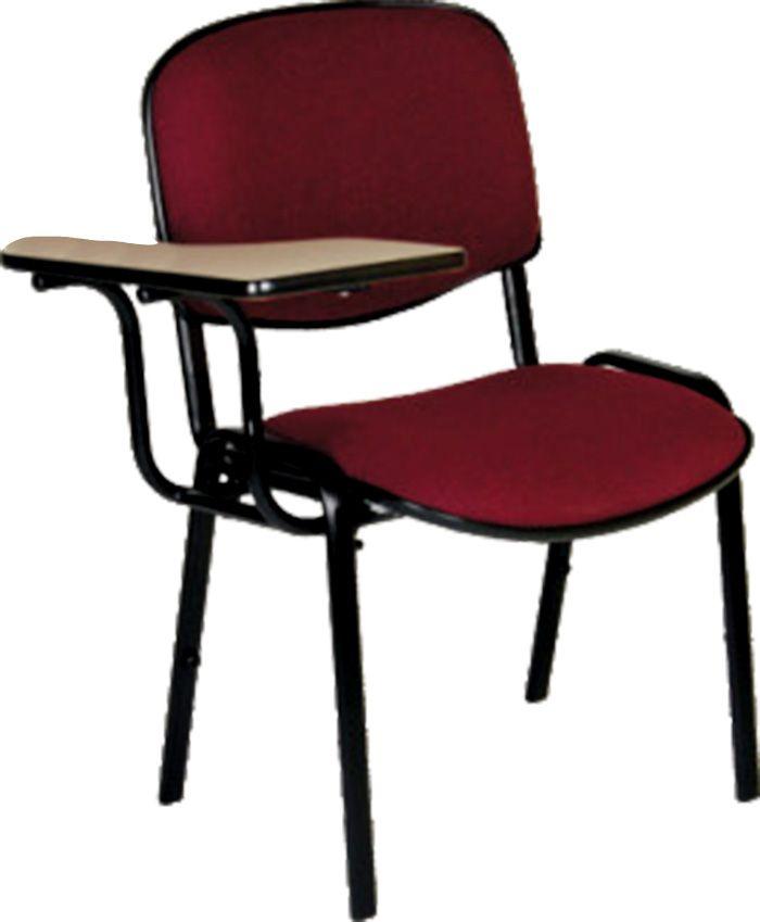 AF 5004-BS - Cadeira Universitária fixa, empilhável, palito, com prancheta e braços sacáveis, encosto médio