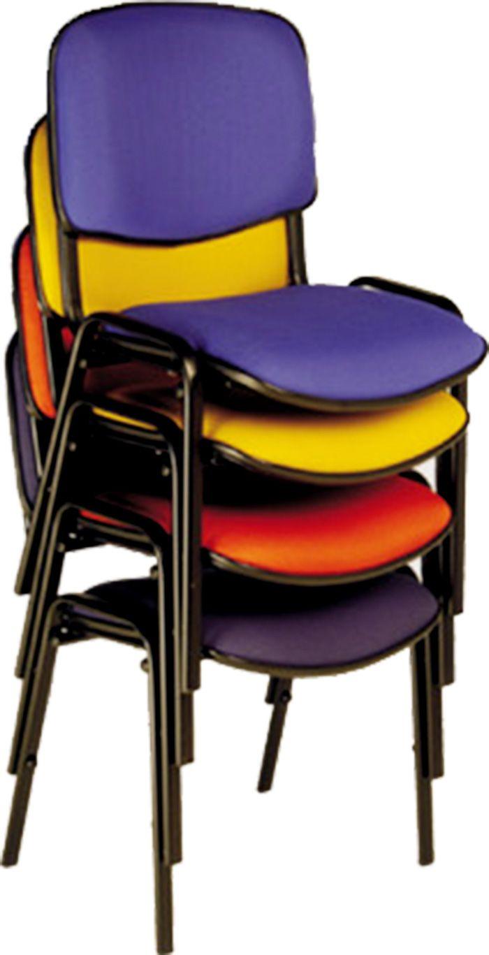 AF 5004 - Cadeira fixa, empilhável, palito, sem braços, encosto médio