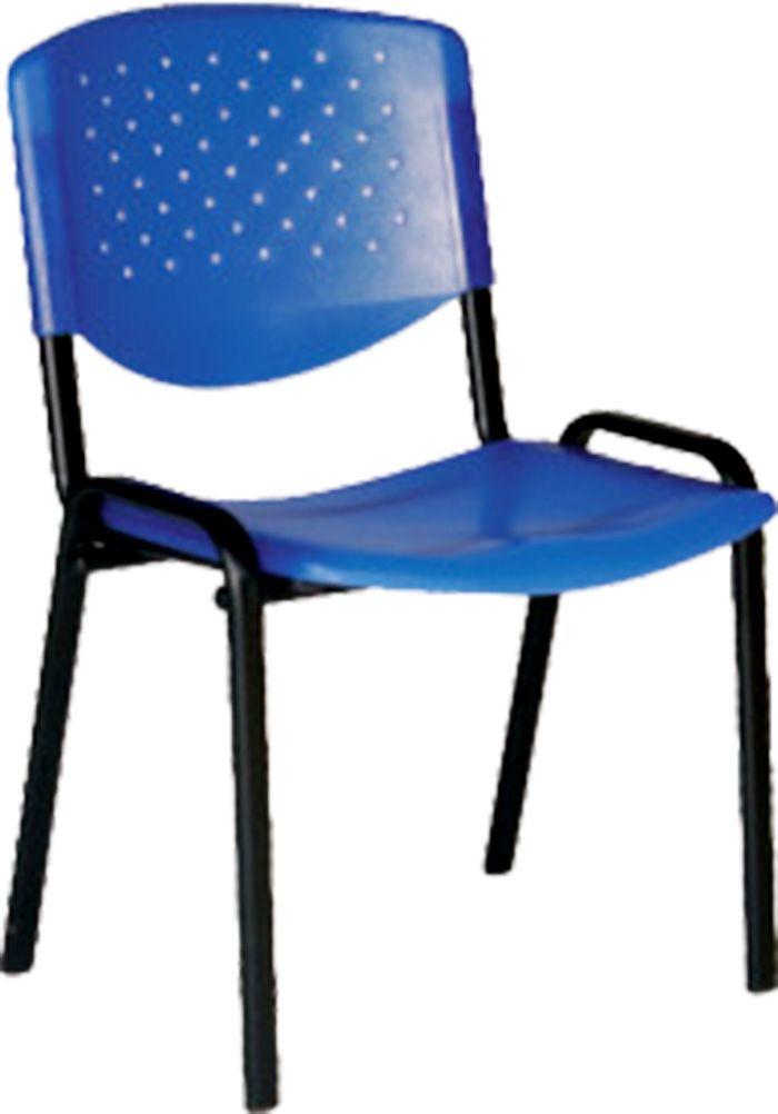 AF 5004-PL - Cadeira fixa, empilhável, palito, sem braços, encosto médio