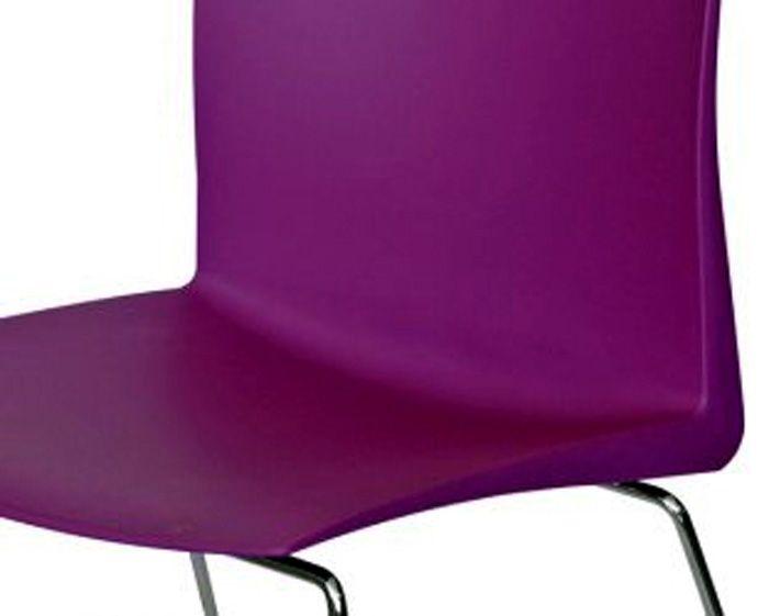 AF 7004-PL - Cadeira fixa, empilhável, trapezoidal, sem braços, encosto médio