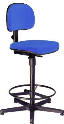 AF 8003-C - Cadeira alta para Caixa / balcão, giratória, sem braços, encosto baixo