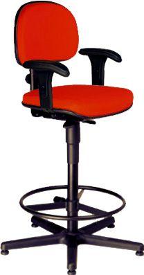 AF 8003-C-CB - Cadeira alta para Caixa / balcão, giratória, com braços reguláveis, encosto baixo