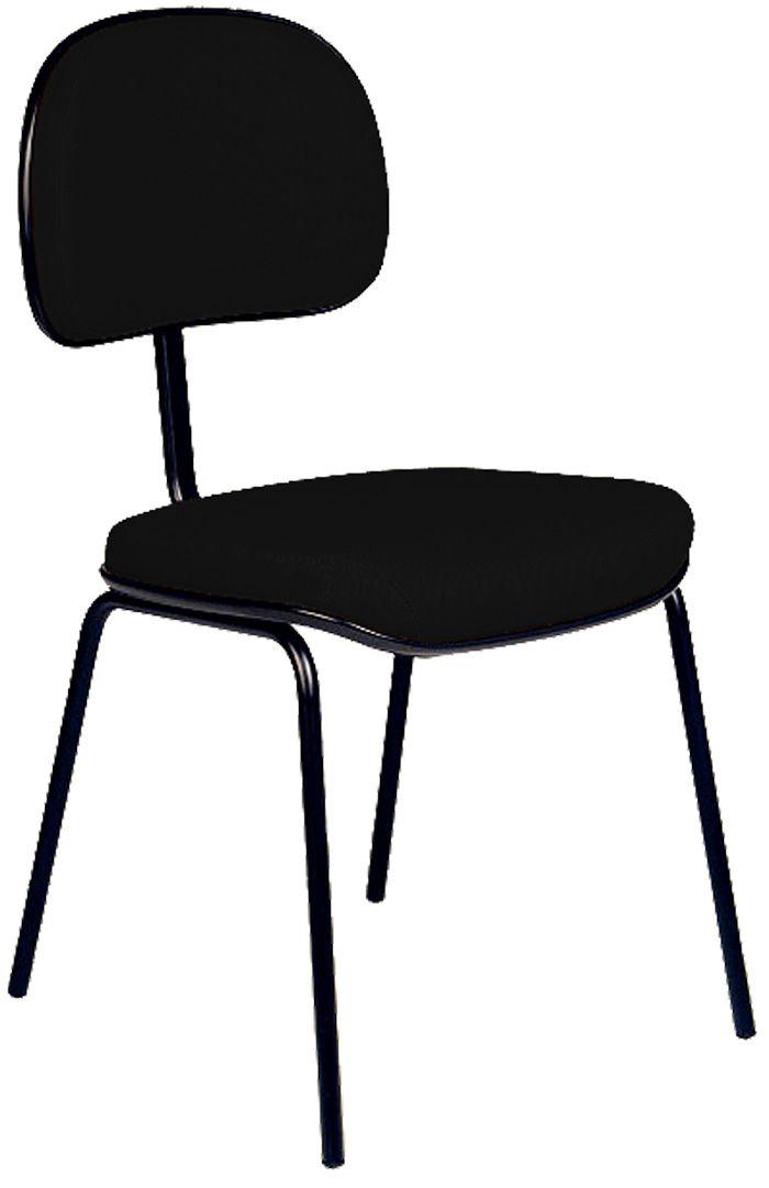 AF 8004 - Cadeira fixa, pés palito, sem braços, encosto baixo