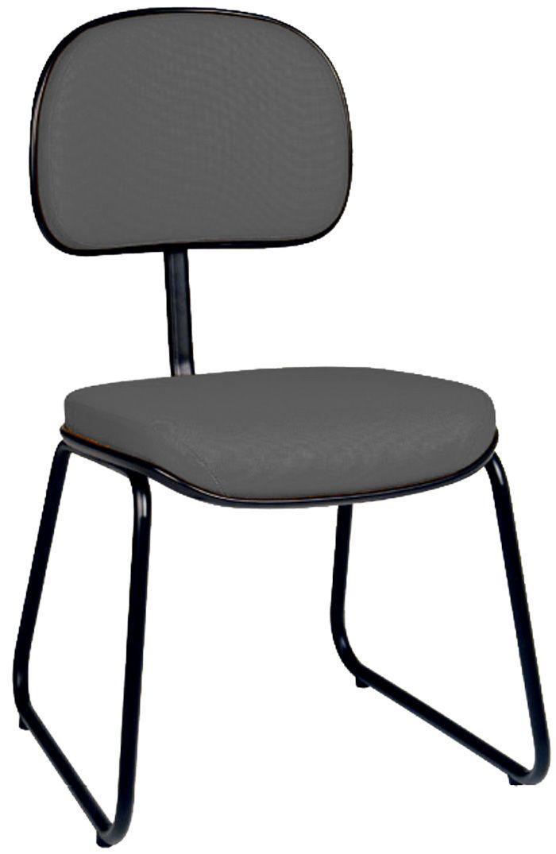 AF 8005 - Cadeira fixa, pé trapezoidal, sem braços, encosto baixo