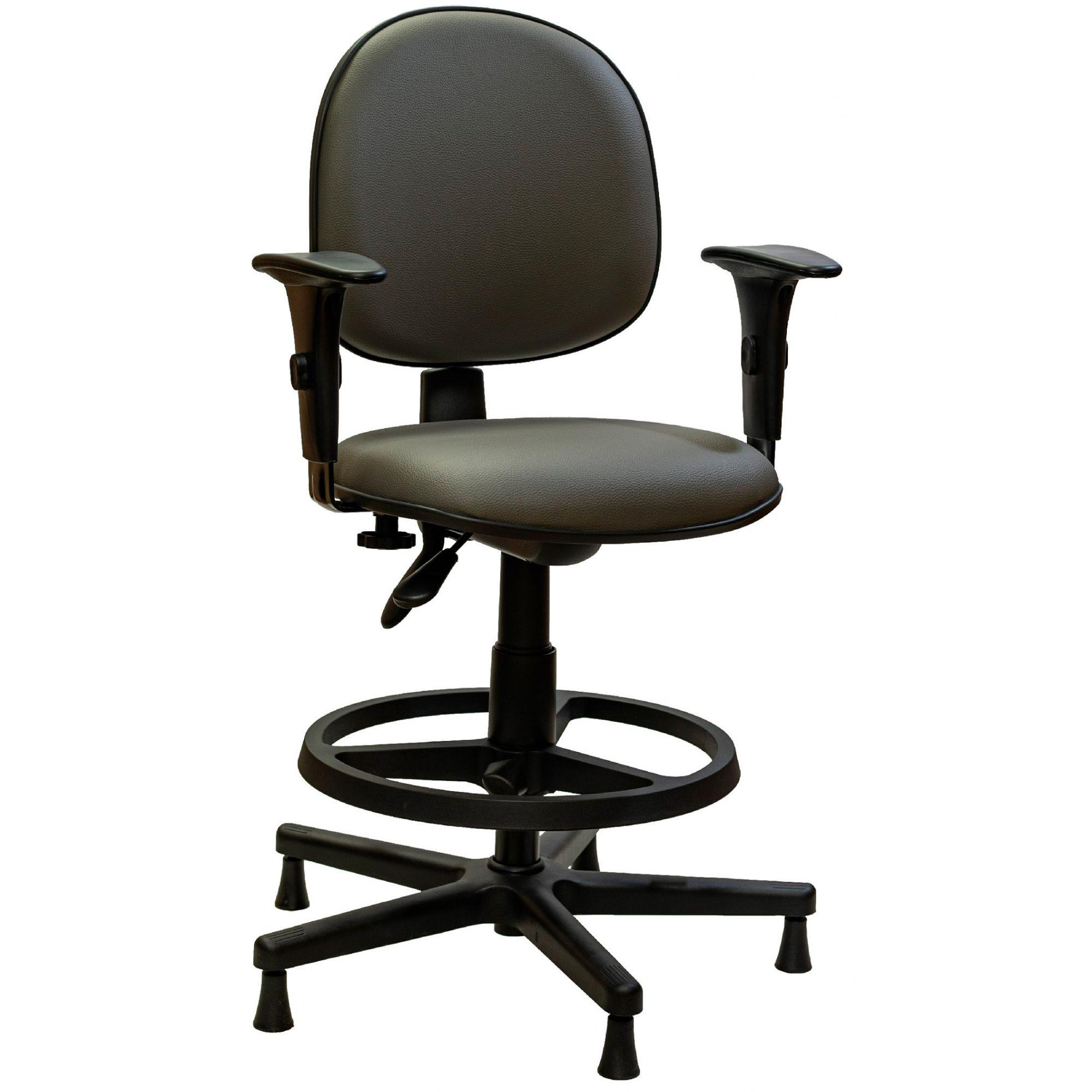 AF 8006-C-CB - Cadeira giratória executiva com braços reguláveis, encosto médio