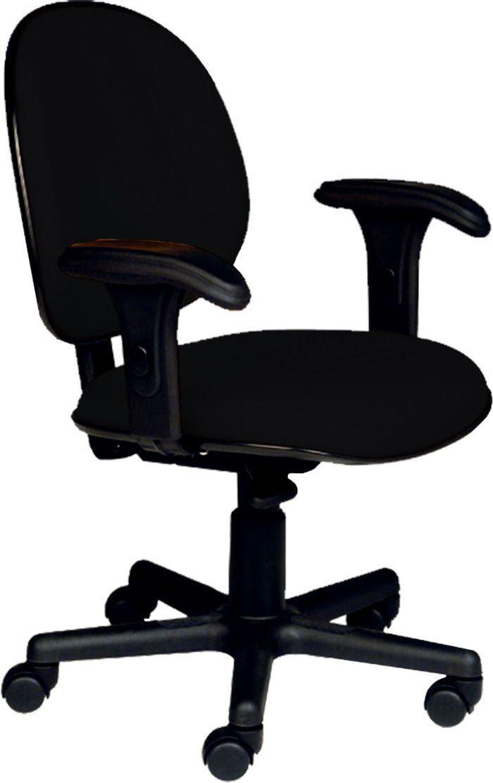 AF 8006-CB - Cadeira giratória executiva com braços reguláveis, encosto médio