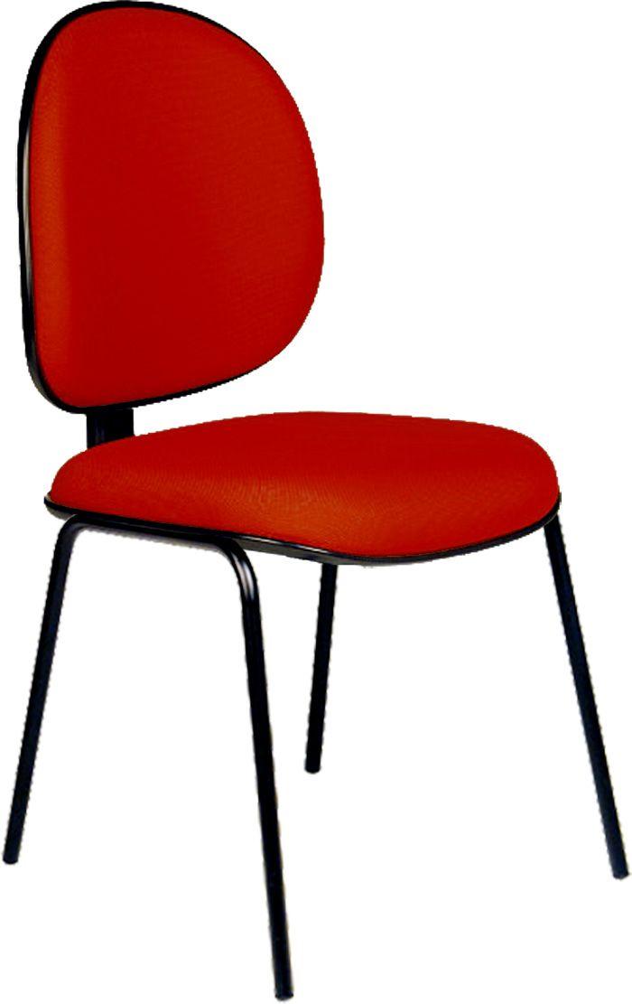 AF 8006-FX - Cadeira fixa, pés palito, sem braços, encosto médio