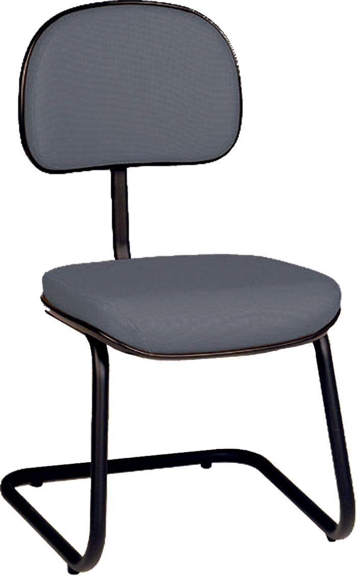 AF 8024 - Cadeira fixa, pés ski, sem braços, encosto baixo