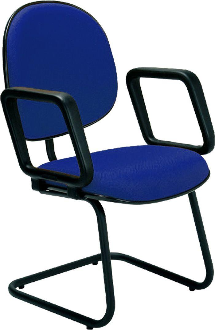 AF 8026-CB - Cadeira fixa, pés ski, com braços, encosto médio