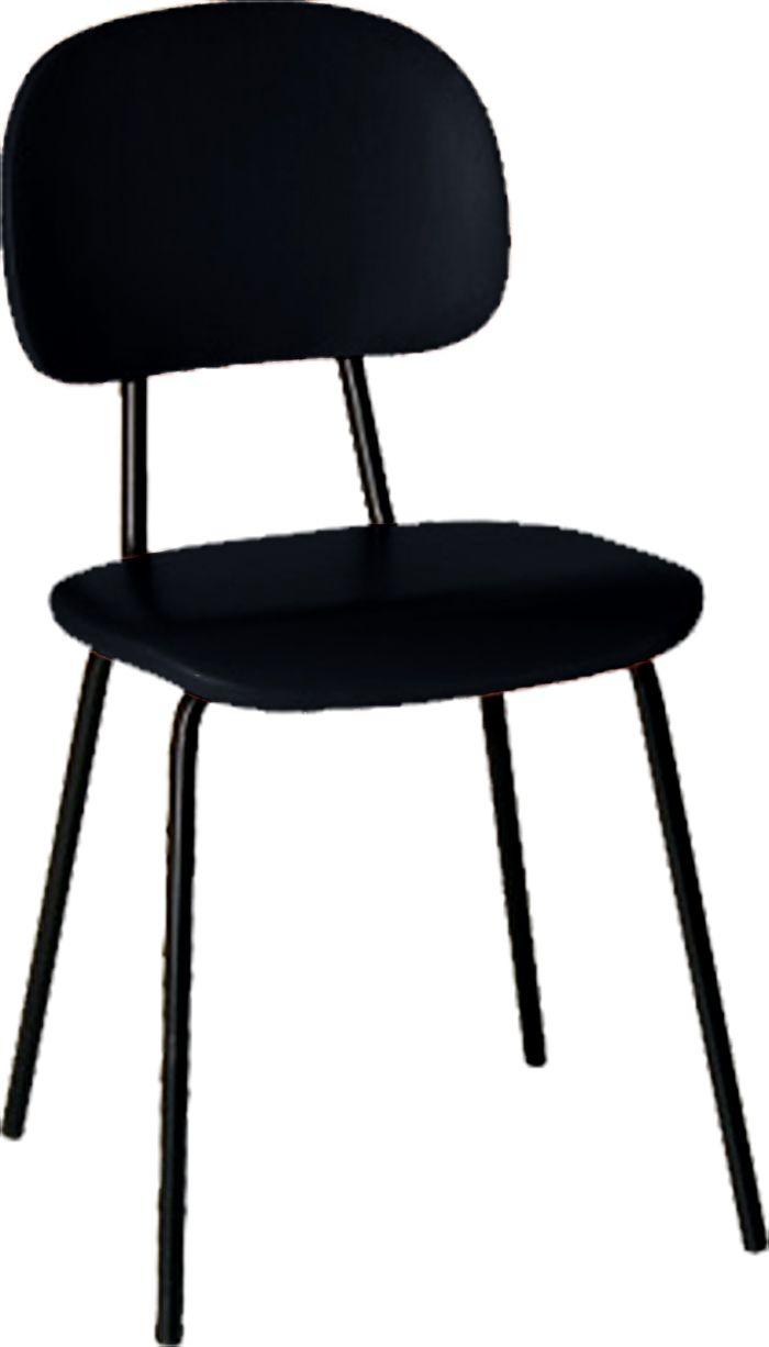 AF 99 - Cadeira fixa, pés palito, secretária, sem braços, encosto baixo