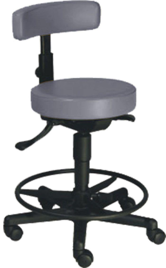 AF Mocho - Banco giratório alto para caixa / balcão, com encosto baixo regulável