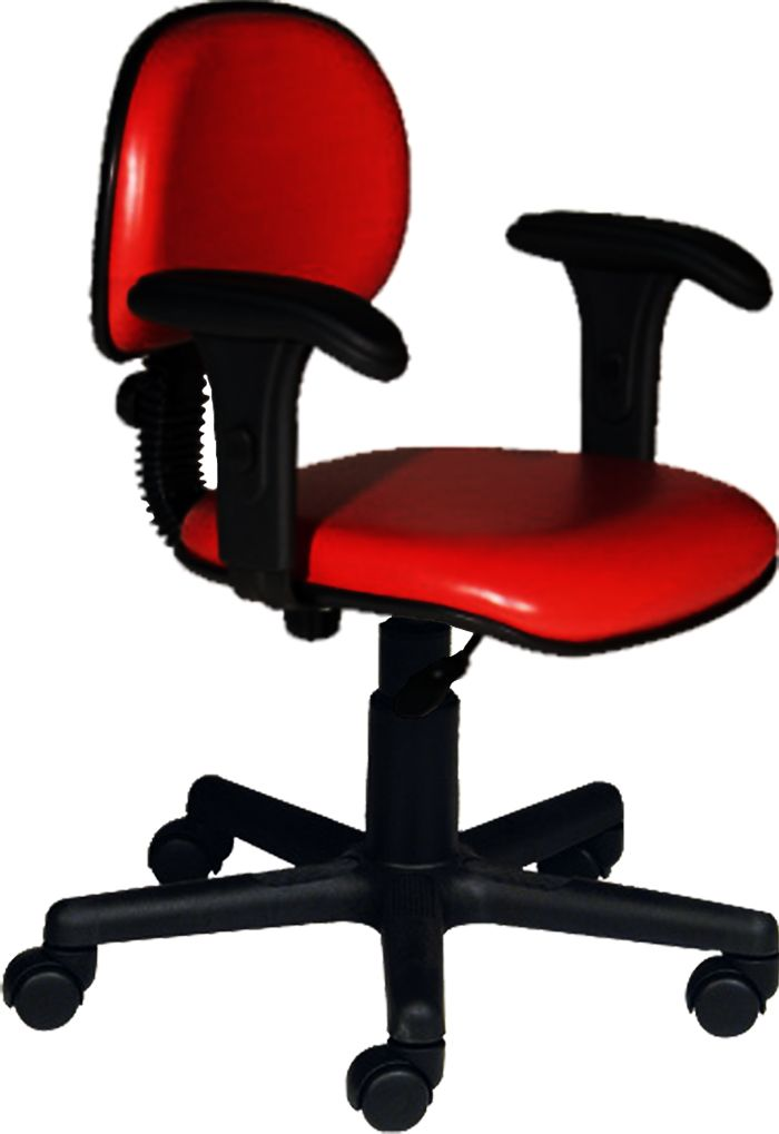 AF 1899-CB - Cadeira giratória secretária com braços reguláveis, encosto baixo