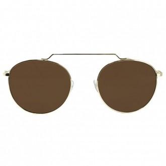 Óculos de Sol Liv Fortaleza Dourado e Marrom