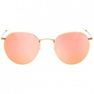 Óculos De Sol Liv Round Rosa