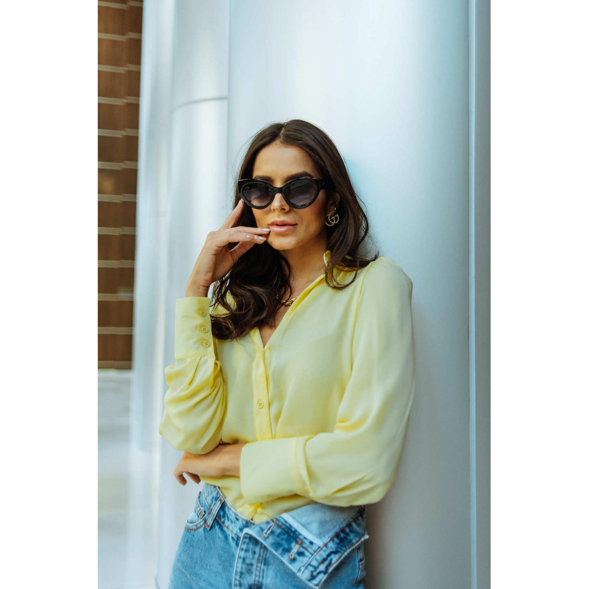 Óculos De Sol Liv Jacqueline Preto