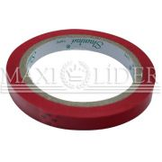 Fita adesiva zebrada vermelha 12mmx60m
