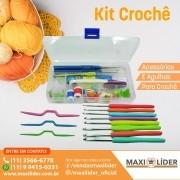 Kit De Acessórios E Agulhas Para Crochê Kit Crochê - Lanmax