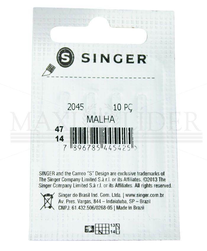 Agulha Doméstica Singer 2045 - PACT C/ 10
