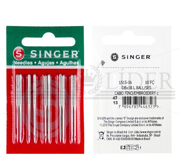 Agulha Singer para máquina reta cabo fino 1515 - PCT C/ 10