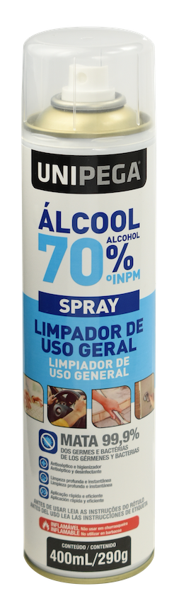 Álcool Spray 400ml 70%