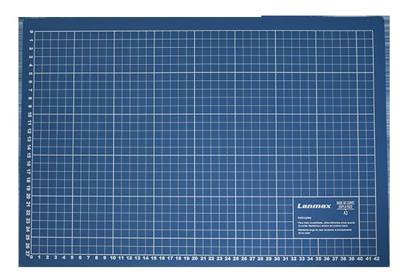 Base De Corte A3 30x45 Azul Para Patchwork - Lanmax