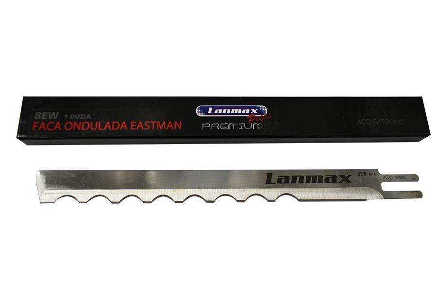 """Faca Modelo 8EW"""" Ondulada Aço Carbono - Lanmax Premium - Dúzia"""