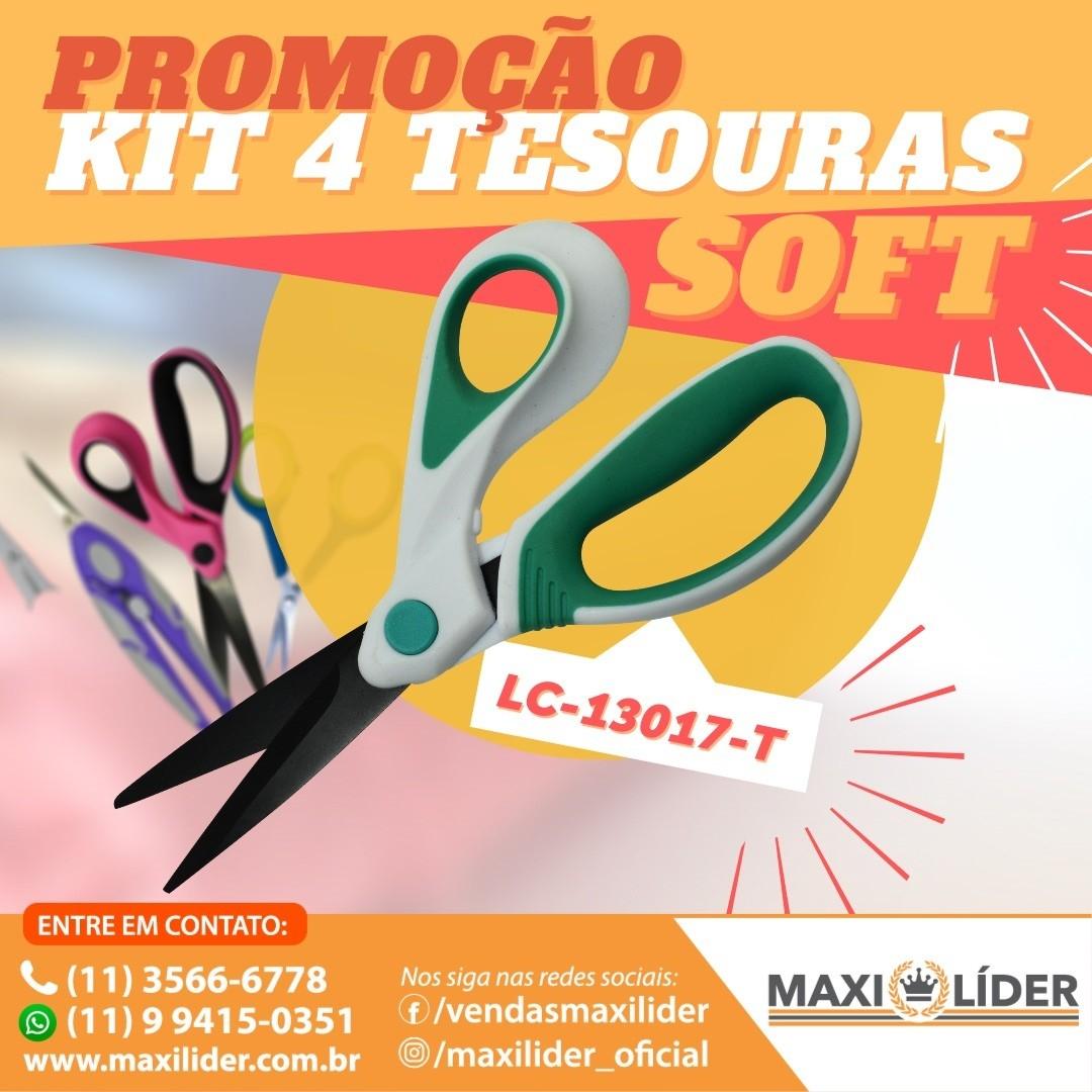 Kit com 4 Tesouras Soft