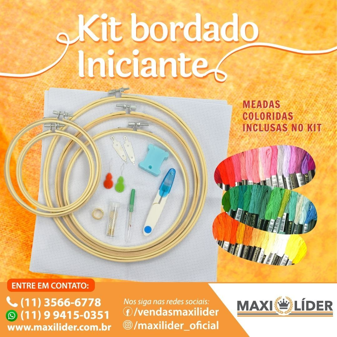 Kit Iniciante Bordado Lanmax